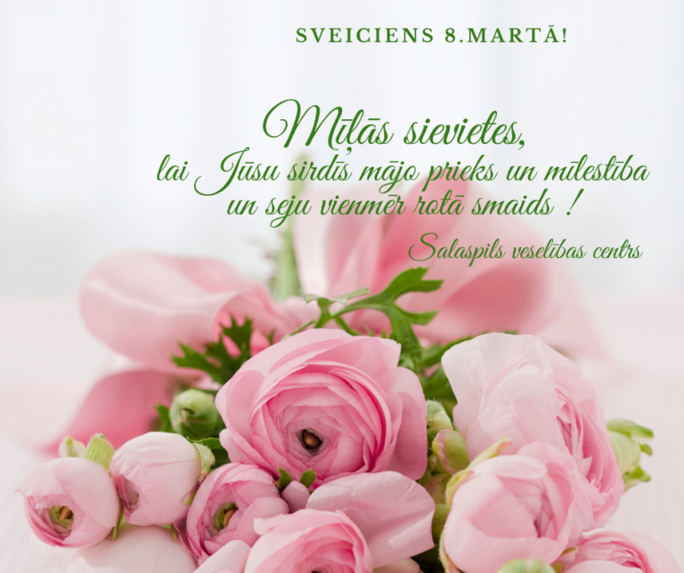 apsveikums sieviešu dienā